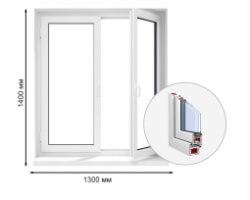 Окно KBE 58 двухстворчатое