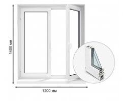 Delight 70 двухстворчатое окно