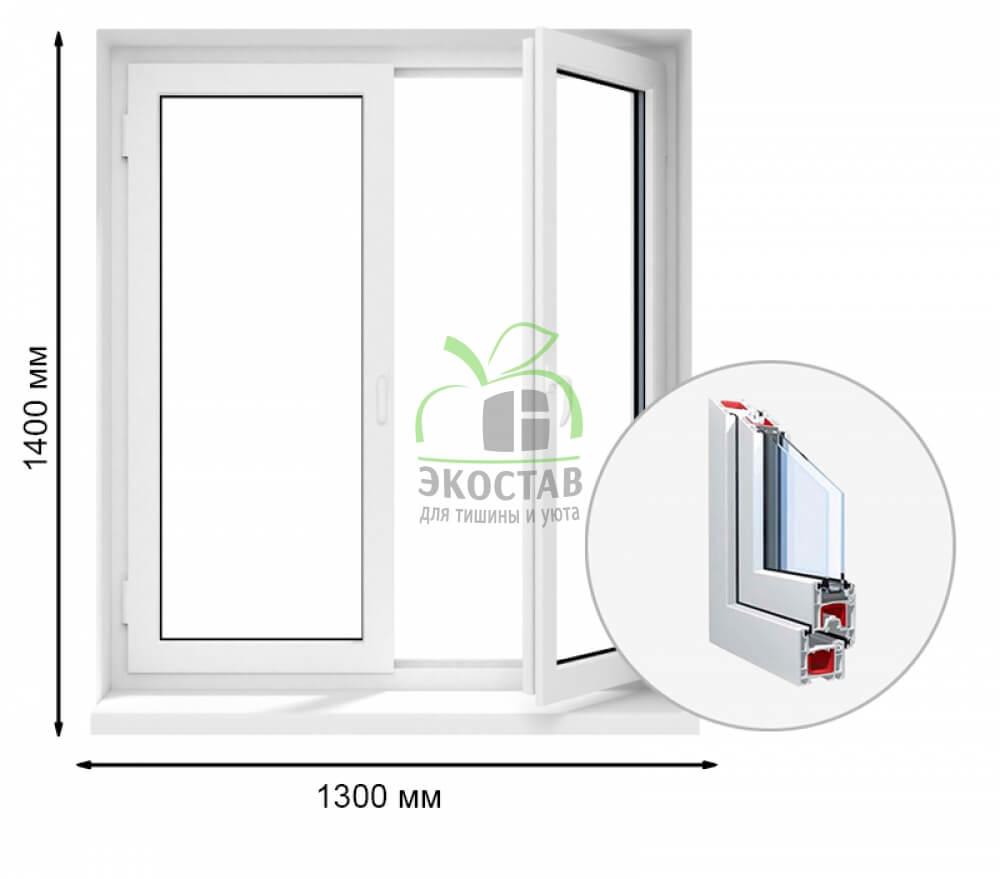 Krauss 58 двухстворчатое окно