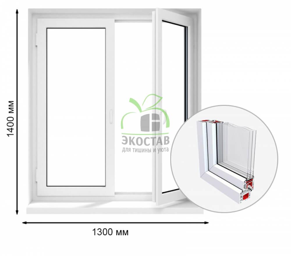 Krauss 70 двухстворчатое окно