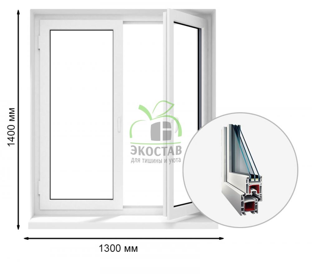 ProWin 58 двухстворчатое окно