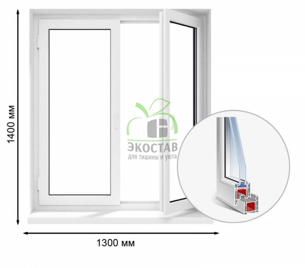 Окно Enwin 60мм 1300x1400