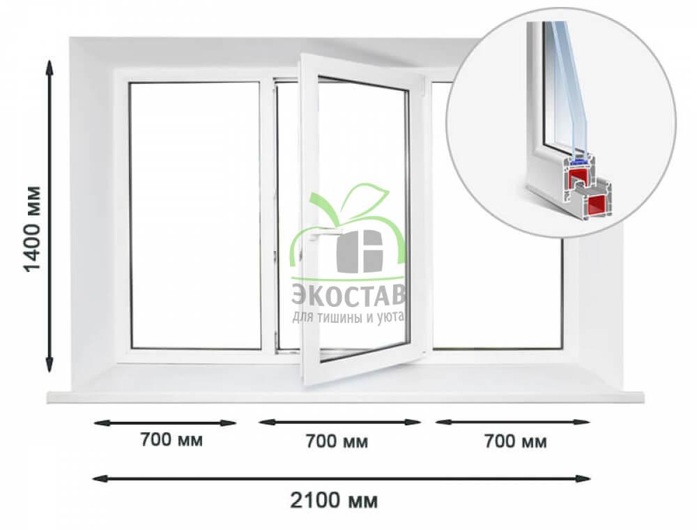 Enwin 60 3х-секционное окно
